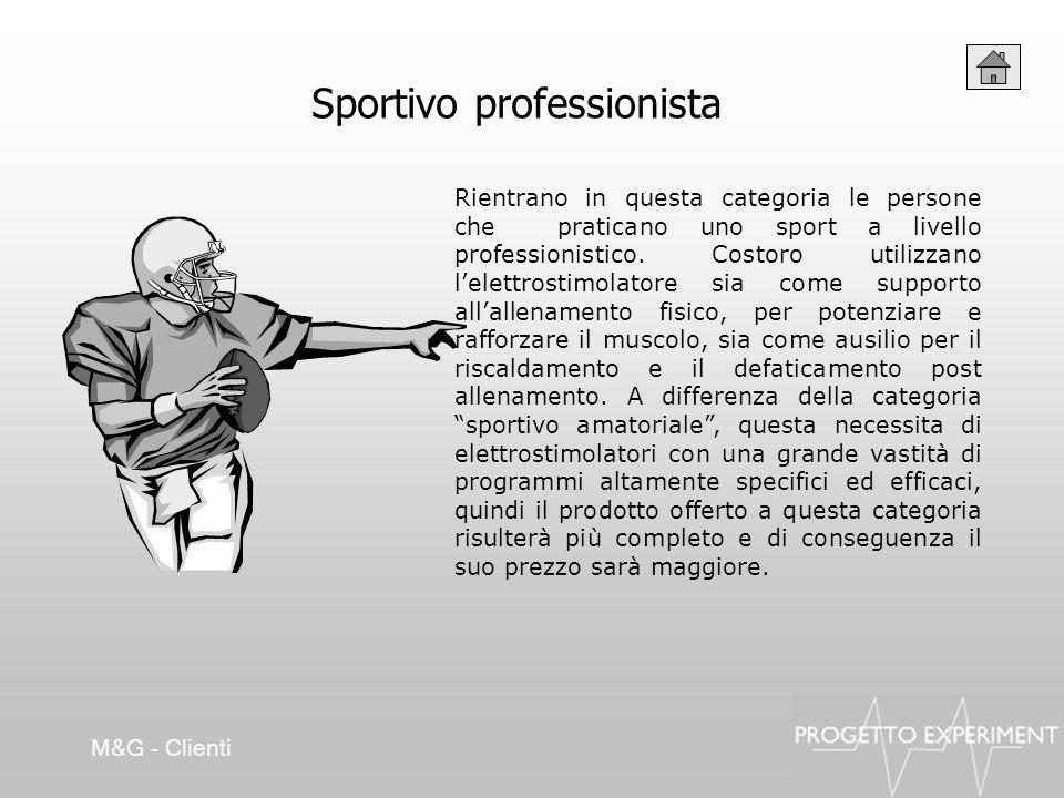 Sportivo professionista Rientrano in questa categoria le persone che praticano uno sport a livello professionistico. Costoro utilizzano lelettrostimol
