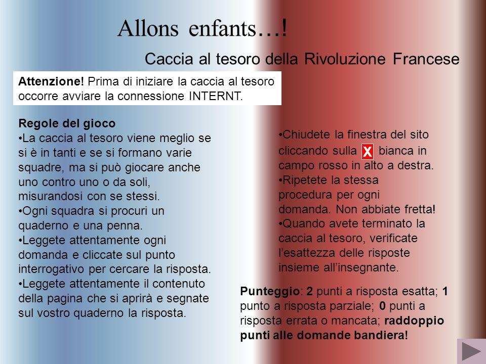 Allons enfants….Caccia al tesoro della Rivoluzione Francese Attenzione.