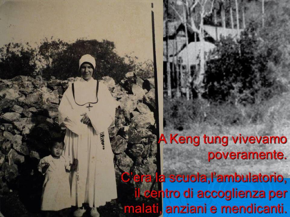 A Keng tung vivevamo poveramente. Cera la scuola,lambulatorio, il centro di accoglienza per malati, anziani e mendicanti.