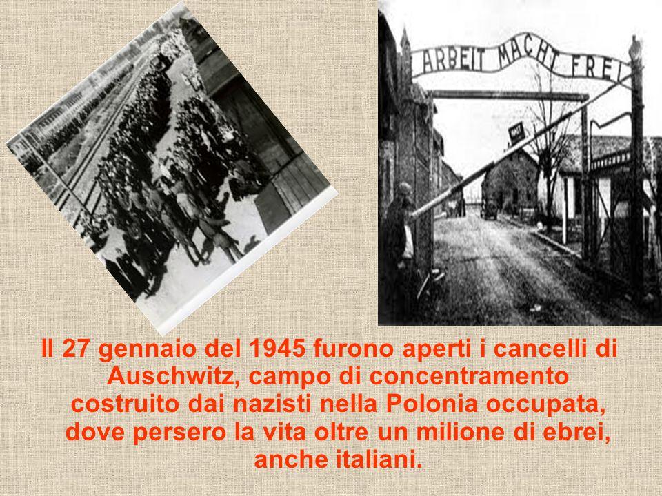 Il 27 gennaio del 1945 furono aperti i cancelli di Auschwitz, campo di concentramento costruito dai nazisti nella Polonia occupata, dove persero la vi