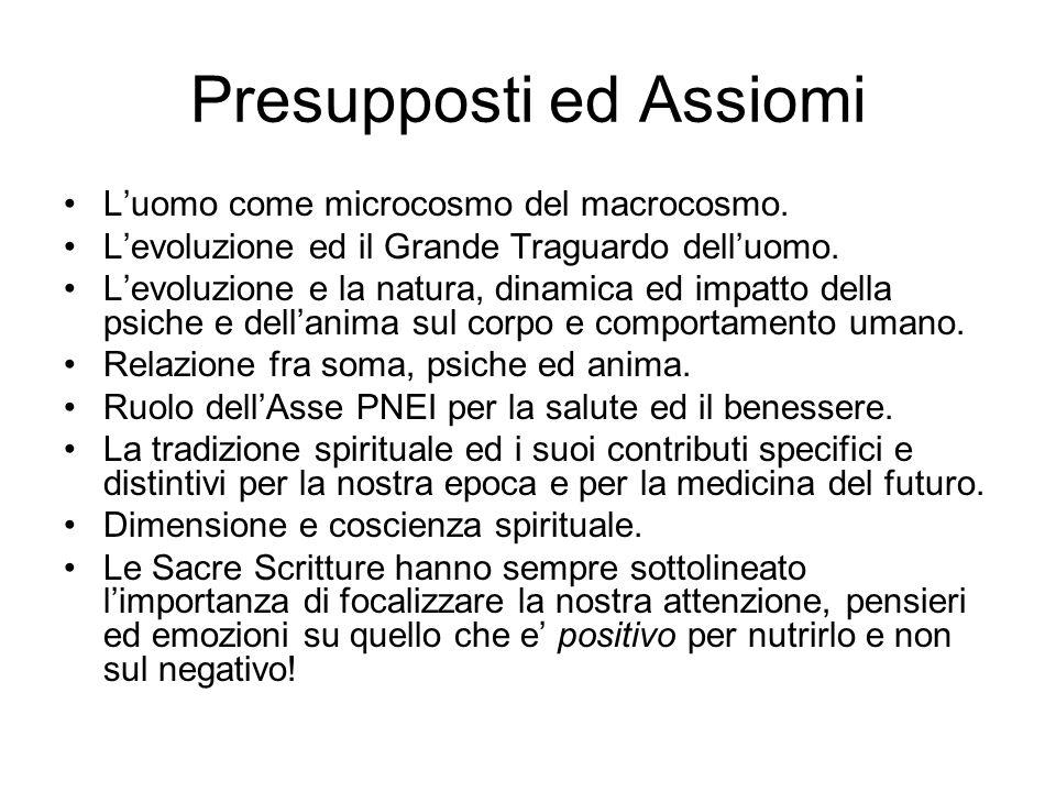 Presupposti ed Assiomi Luomo come microcosmo del macrocosmo. Levoluzione ed il Grande Traguardo delluomo. Levoluzione e la natura, dinamica ed impatto