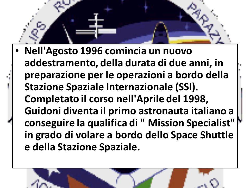 Nell'Agosto 1996 comincia un nuovo addestramento, della durata di due anni, in preparazione per le operazioni a bordo della Stazione Spaziale Internaz