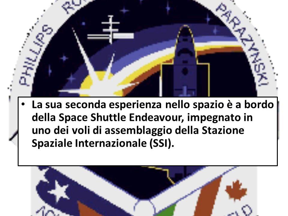 La sua seconda esperienza nello spazio è a bordo della Space Shuttle Endeavour, impegnato in uno dei voli di assemblaggio della Stazione Spaziale Inte