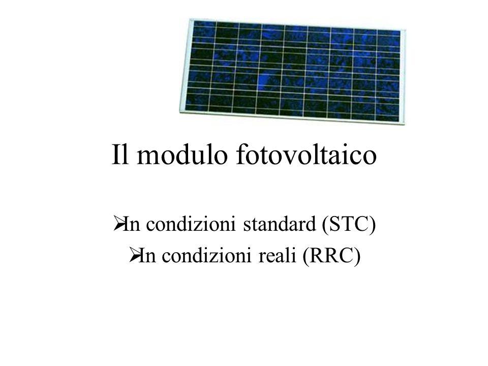 Il modulo fotovoltaico In condizioni standard (STC) In condizioni reali (RRC)