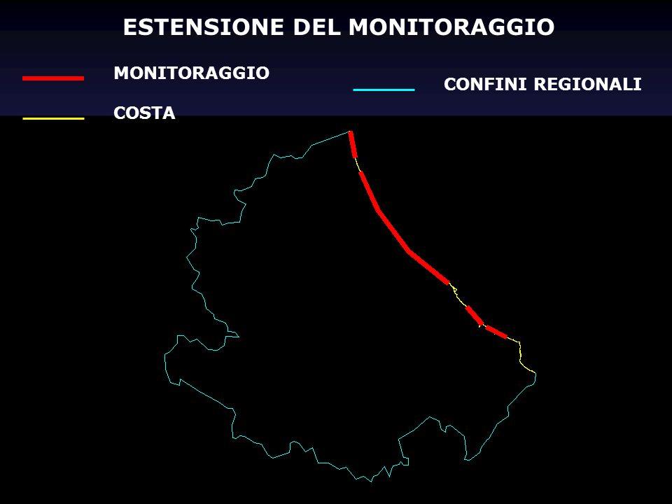 ESTENSIONE DEL MONITORAGGIO MONITORAGGIO COSTA CONFINI REGIONALI