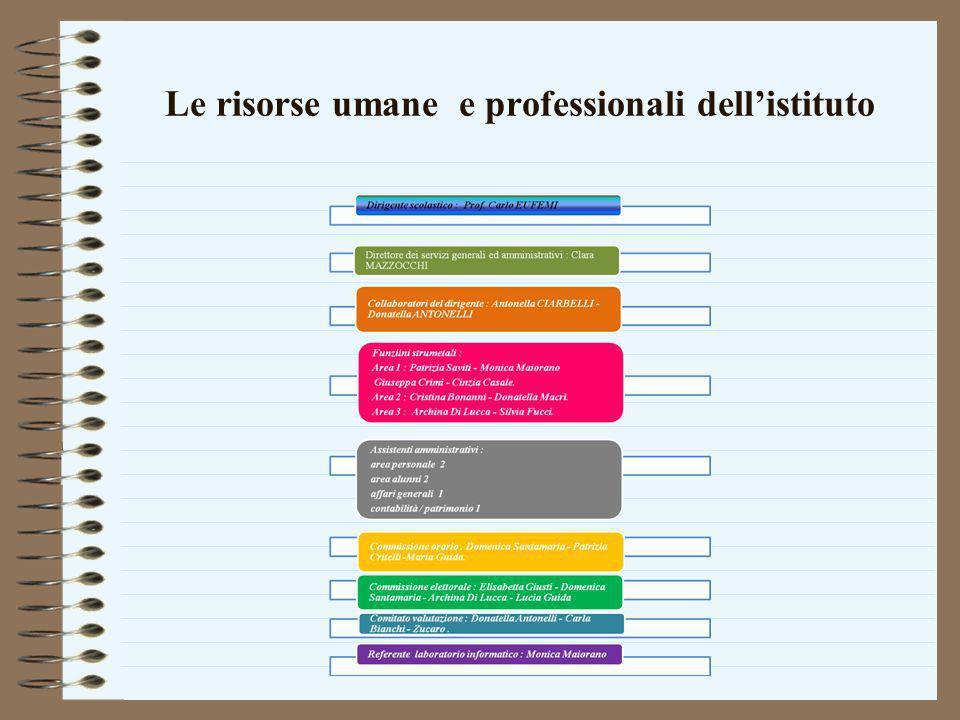 Le risorse umane e professionali dellistituto