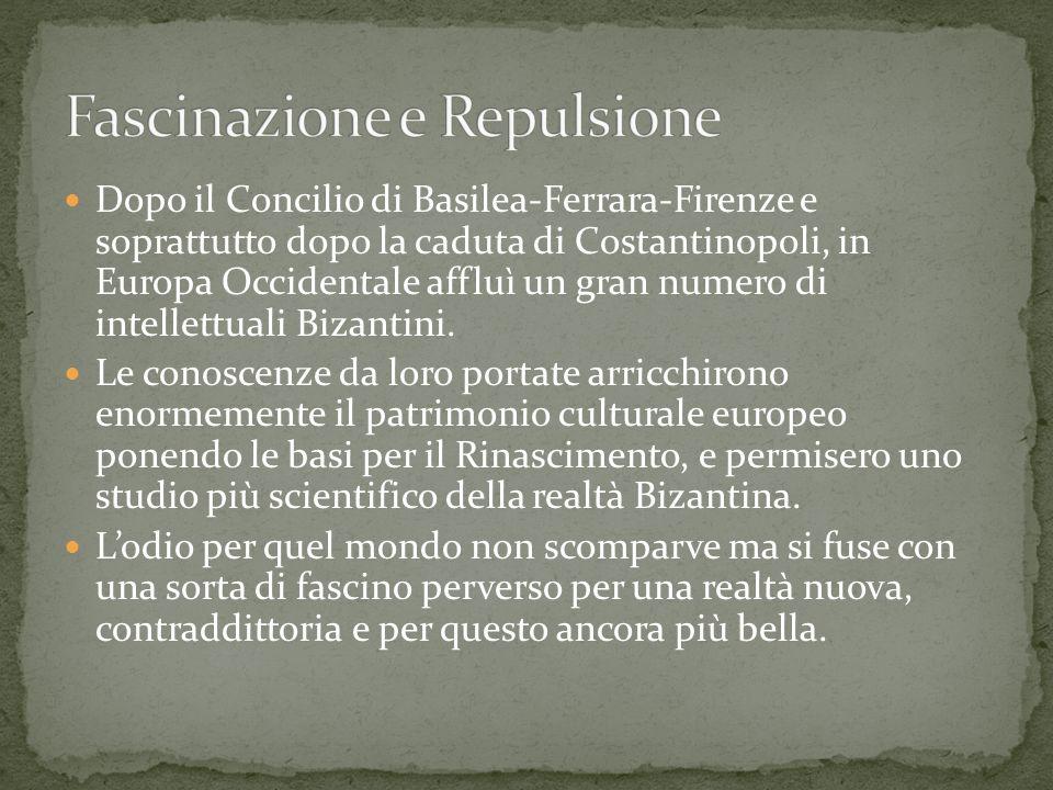 Dopo il Concilio di Basilea-Ferrara-Firenze e soprattutto dopo la caduta di Costantinopoli, in Europa Occidentale affluì un gran numero di intellettua