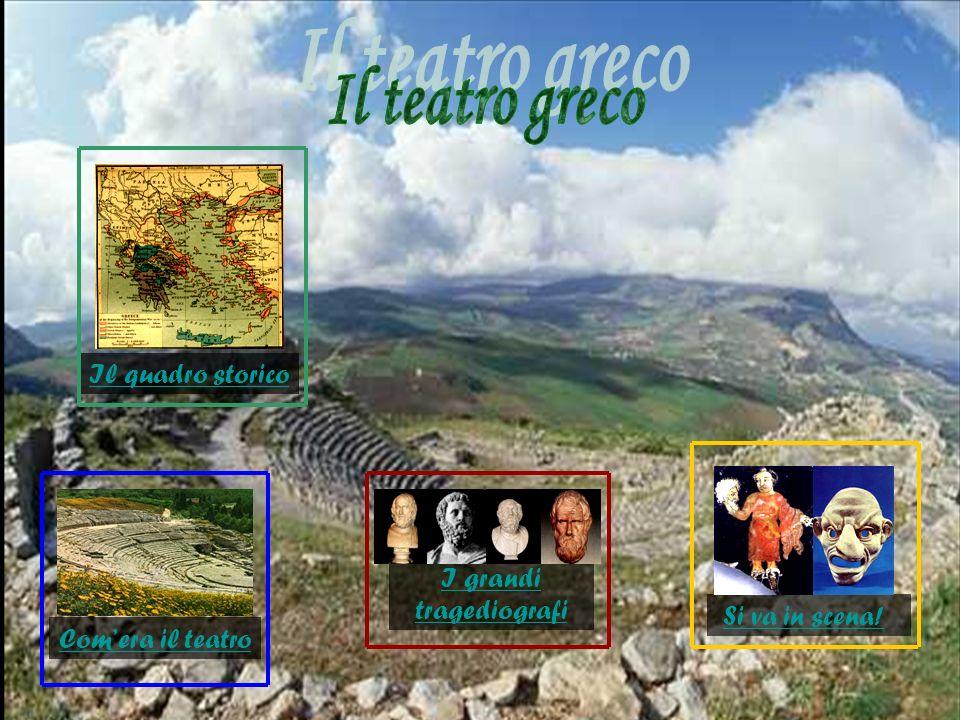 Il teatro nacque ad Atene nel momento di maggior splendore della polis, ovvero il V secolo a.C.