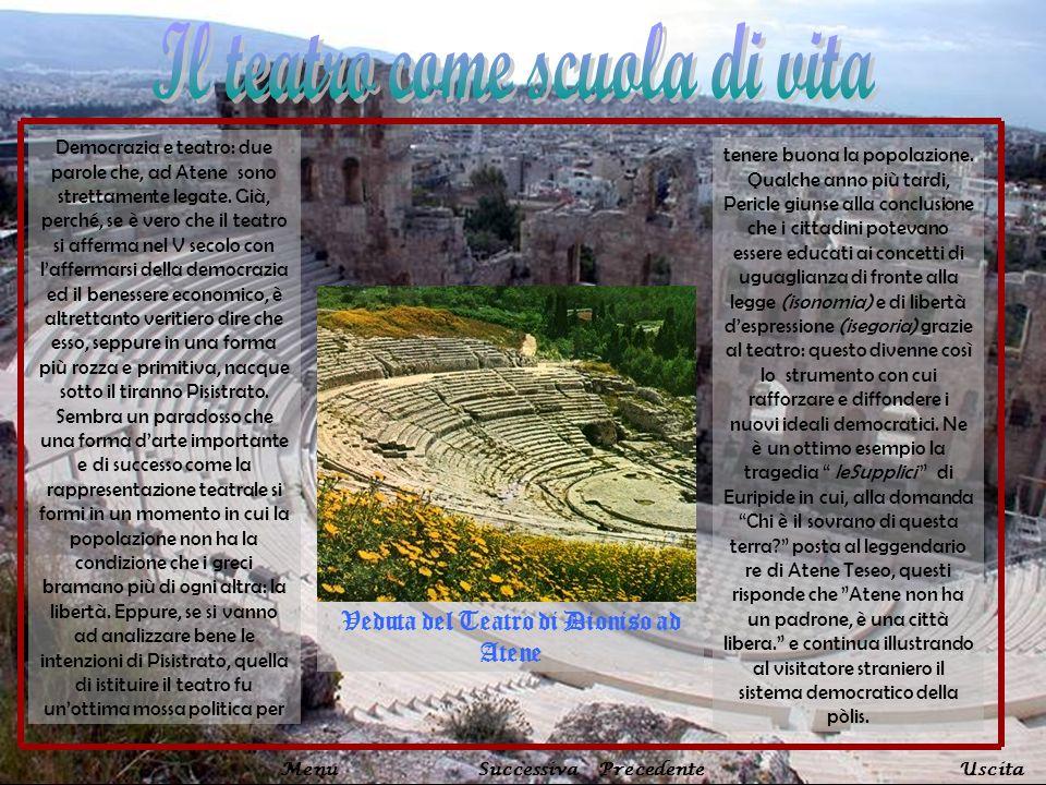 Democrazia e teatro: due parole che, ad Atene sono strettamente legate. Già, perché, se è vero che il teatro si afferma nel V secolo con laffermarsi d