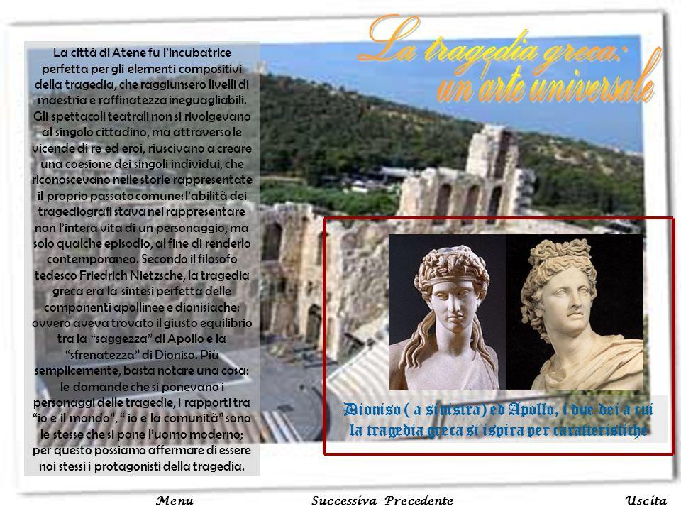 La città di Atene fu lincubatrice perfetta per gli elementi compositivi della tragedia, che raggiunsero livelli di maestria e raffinatezza ineguagliab