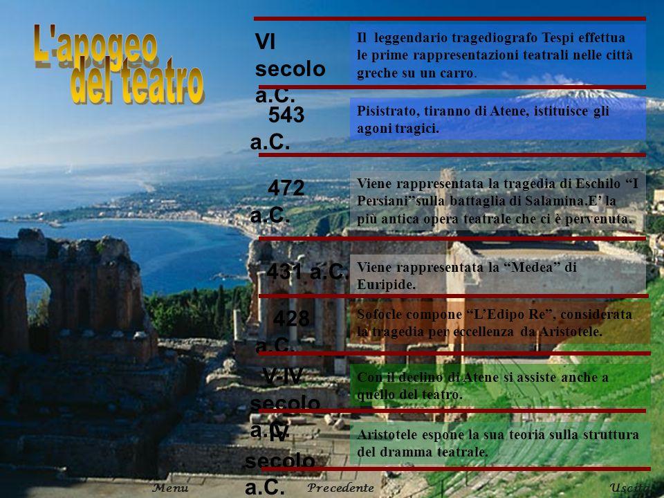 VI secolo a.C. Il leggendario tragediografo Tespi effettua le prime rappresentazioni teatrali nelle città greche su un carro. 543 a.C. Pisistrato, tir