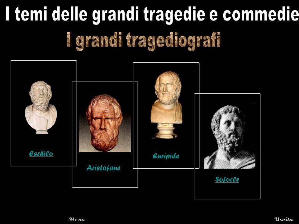 MenuUscitaTorna alla pagina I grandi tragediografi Eschilo nacque ad Eleusi nel 525 a.C.