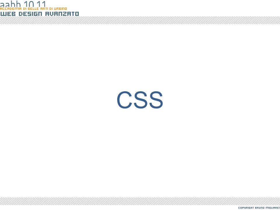 I Fogli di Stile HTML serve informare il browser di quali sono le componenti necessarie a mostrare un documento e ad articolare il documento in blocchi semantici.