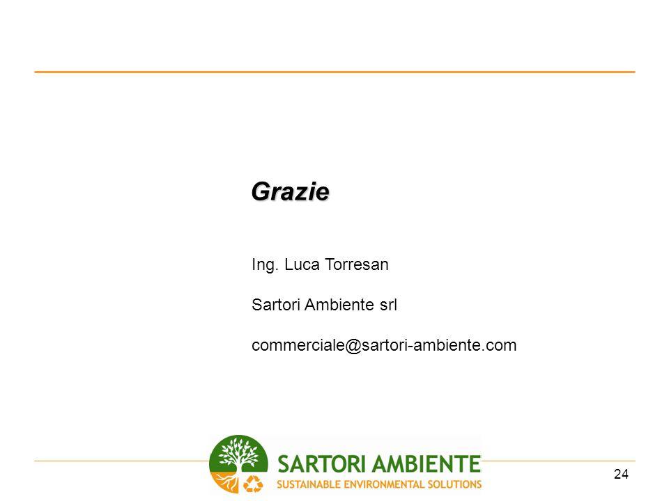 24 Grazie Ing. Luca Torresan Sartori Ambiente srl commerciale@sartori-ambiente.com