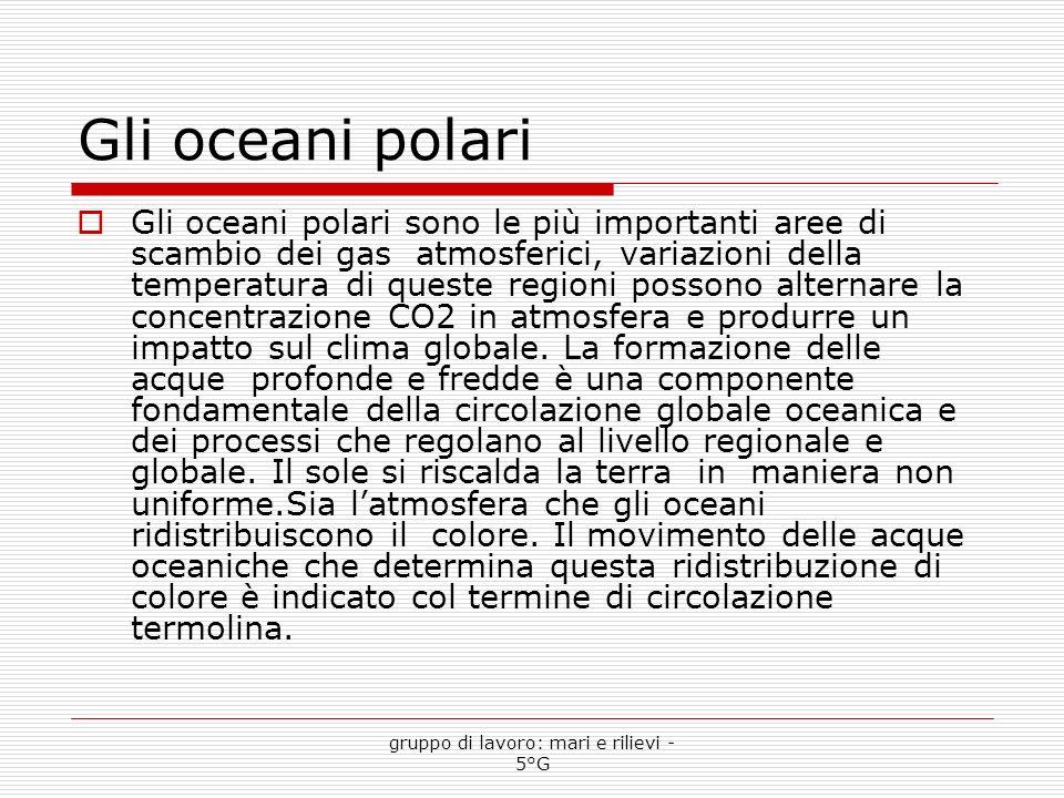Gli oceani polari Gli oceani polari sono le più importanti aree di scambio dei gas atmosferici, variazioni della temperatura di queste regioni possono alternare la concentrazione CO2 in atmosfera e produrre un impatto sul clima globale.