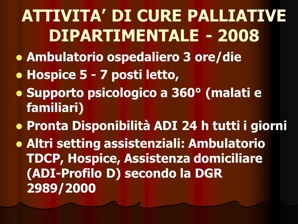 I problemi persistenti a Vicenza: l85 % muore in ospedale: ADI ancora inefficace; la cultura della medicina prometeica è ancora imperante; il malato terminale (criteri OMS) non interessa a nessuno