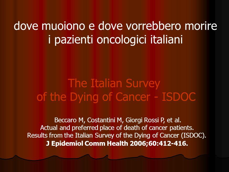 4 STRATI Nord ovest Centro Nord est Centro Sud e isole popolazione target deceduti per tumore adulti (n 160.000) 30 ASL 2.000 deceduti per tumore
