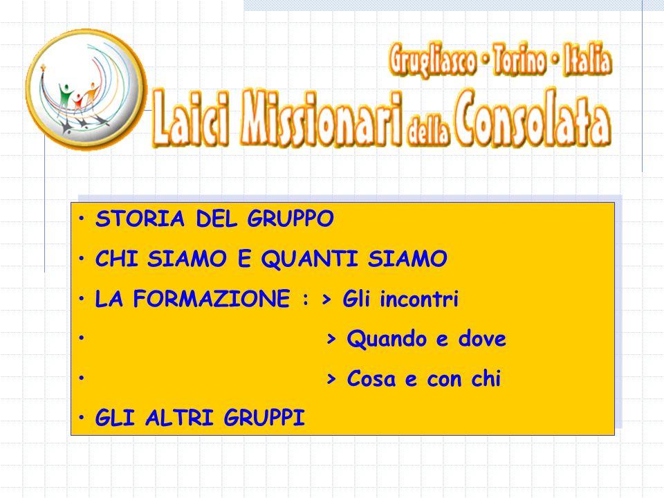 Il gruppo Laici Missionari della Consolata di Grugliasco nasce nel 1998 con il desiderio di condividere il carisma dell Allamano.