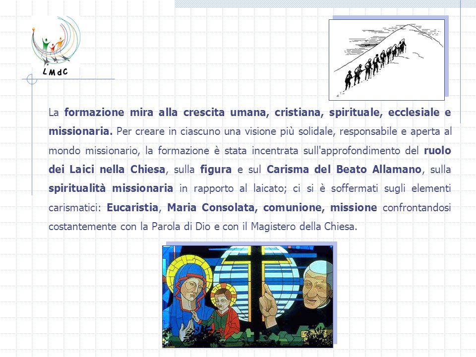 Il gruppo vive poi momenti forti (Esercizi Spirituali) e occasioni di fraternità con le Missionarie della Consolata durante le feste liturgiche e di Istituto.
