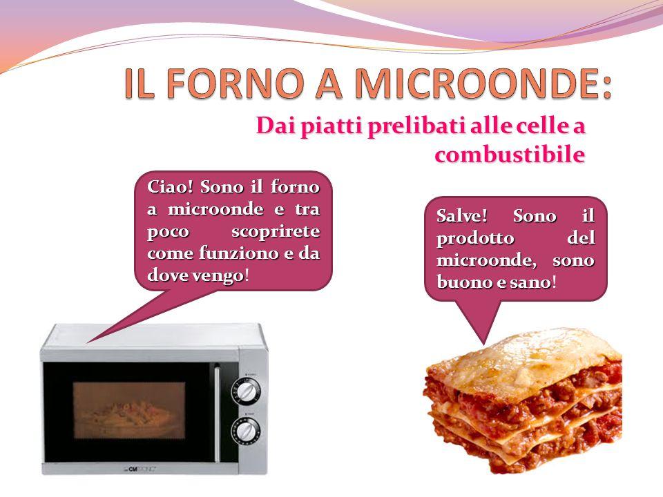Dai piatti prelibati alle celle a combustibile Ciao! Sono il forno a microonde e tra poco scoprirete come funziono e da dove vengo Ciao! Sono il forno