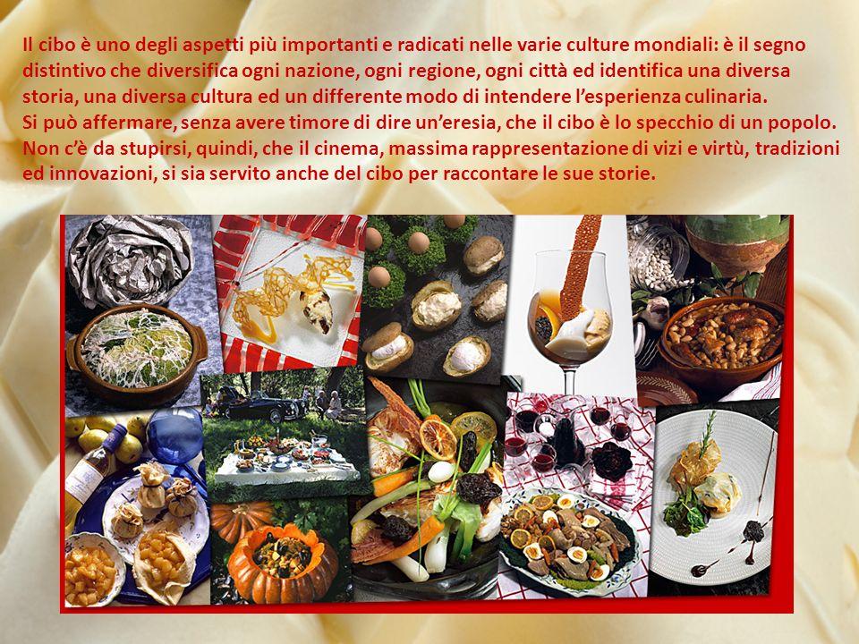 Il cibo è uno degli aspetti più importanti e radicati nelle varie culture mondiali: è il segno distintivo che diversifica ogni nazione, ogni regione, ogni città ed identifica una diversa storia, una diversa cultura ed un differente modo di intendere lesperienza culinaria.