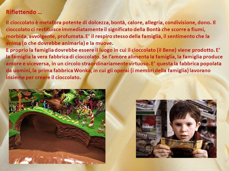Riflettendo … Il cioccolato è metafora potente di dolcezza, bontà, calore, allegria, condivisione, dono.