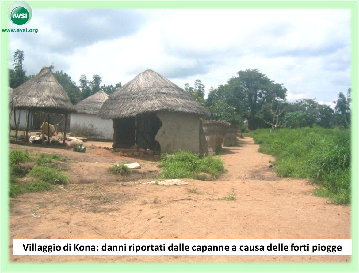 Villaggio di Kona: danni riportati dalle capanne a causa delle forti piogge 11