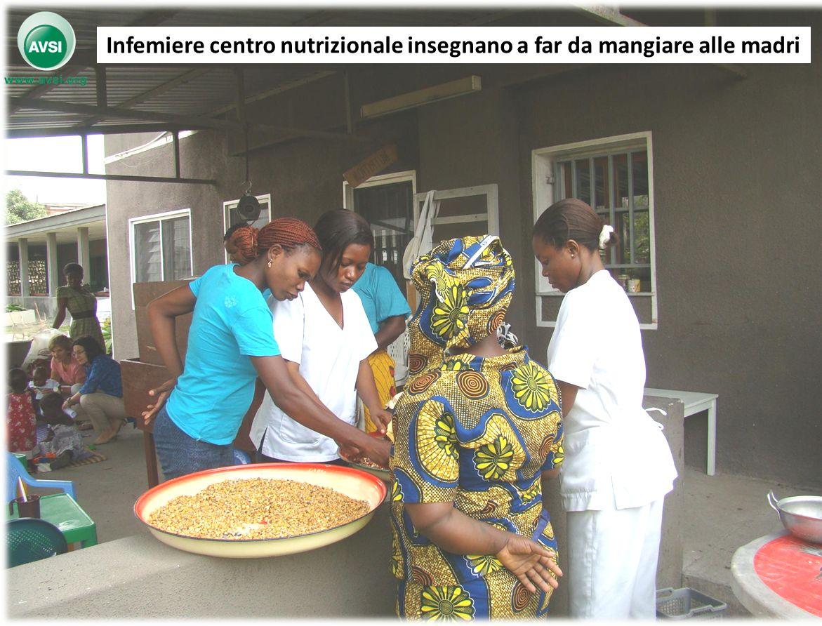 7 Infemiere centro nutrizionale insegnano a far da mangiare alle madri