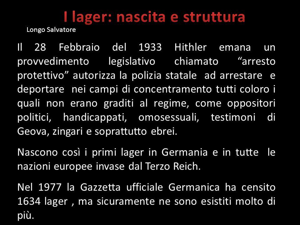 Il 28 Febbraio del 1933 Hithler emana un provvedimento legislativo chiamato arresto protettivo autorizza la polizia statale ad arrestare e deportare n