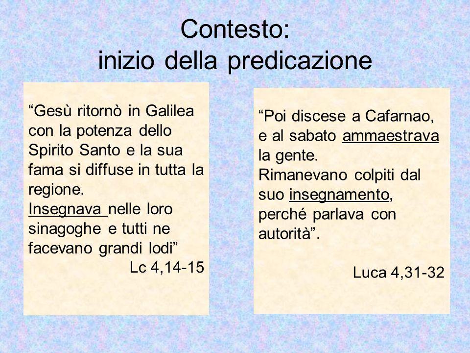 Luca 4,16-30 Confronto con i Sinottici Luca inserisce allinizio lepisodio di Nazaret: Perché ha anticipato.