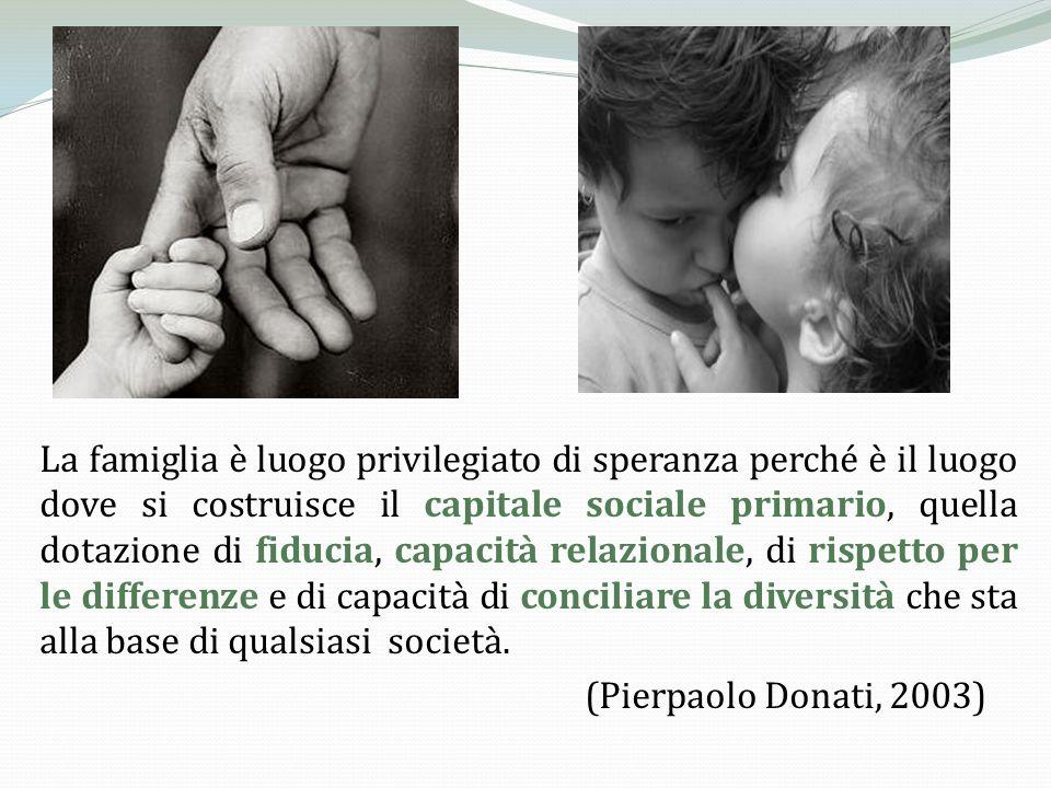 «La famiglia è il luogo dove si impara ad amare, il centro naturale della vita umana.
