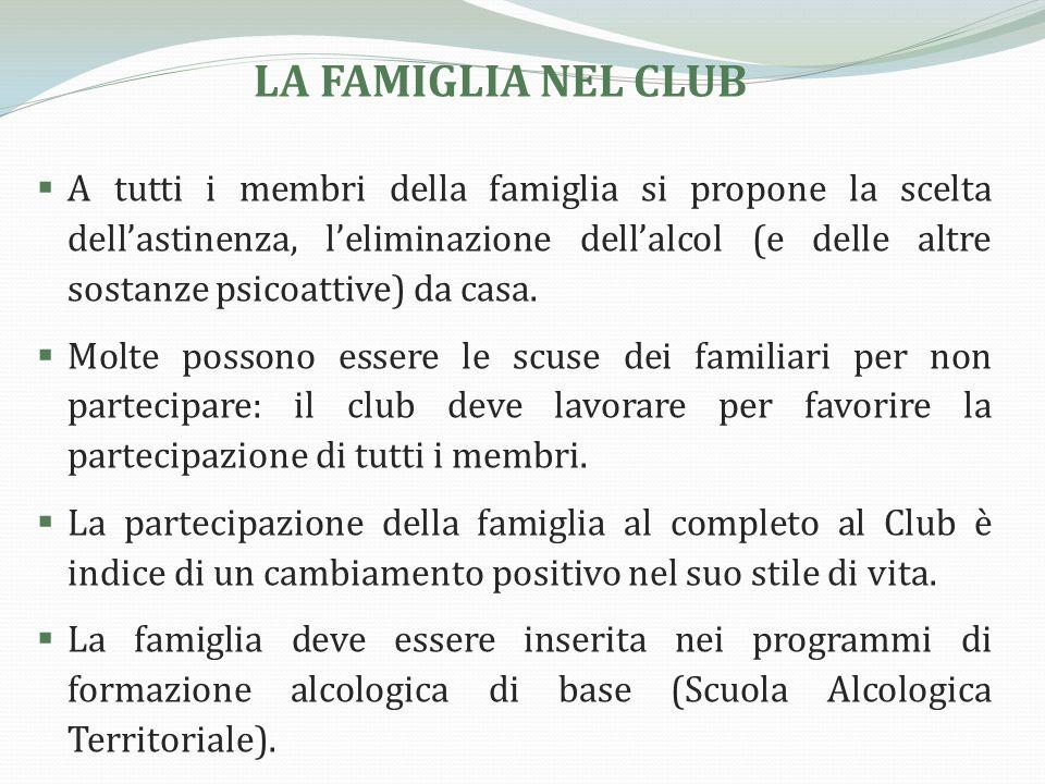 Se i membri della famiglia non sono rintracciabili o se non sono disposti a prendere parte al percorso, il Club deve impegnarsi a organizzare una famiglia sostitutiva.