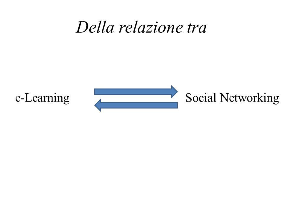 Della relazione tra e-Learning Social Networking