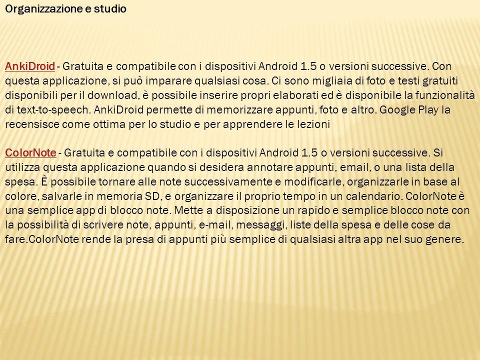Organizzazione e studio EverStudent EverStudent - Gratuita e compatibile con i dispositivi Android 1.6 o versioni successive.