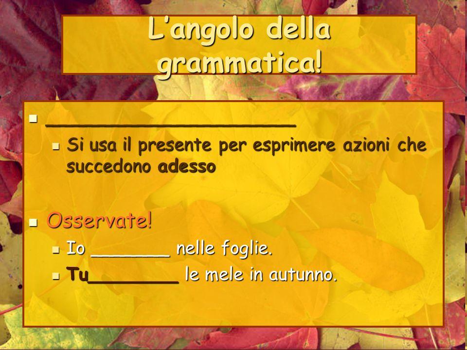 Langolo della grammatica.