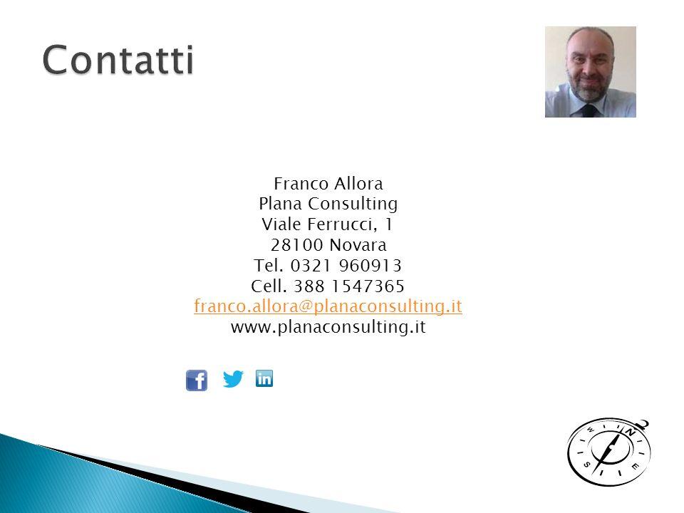 Franco Allora Plana Consulting Viale Ferrucci, 1 28100 Novara Tel.