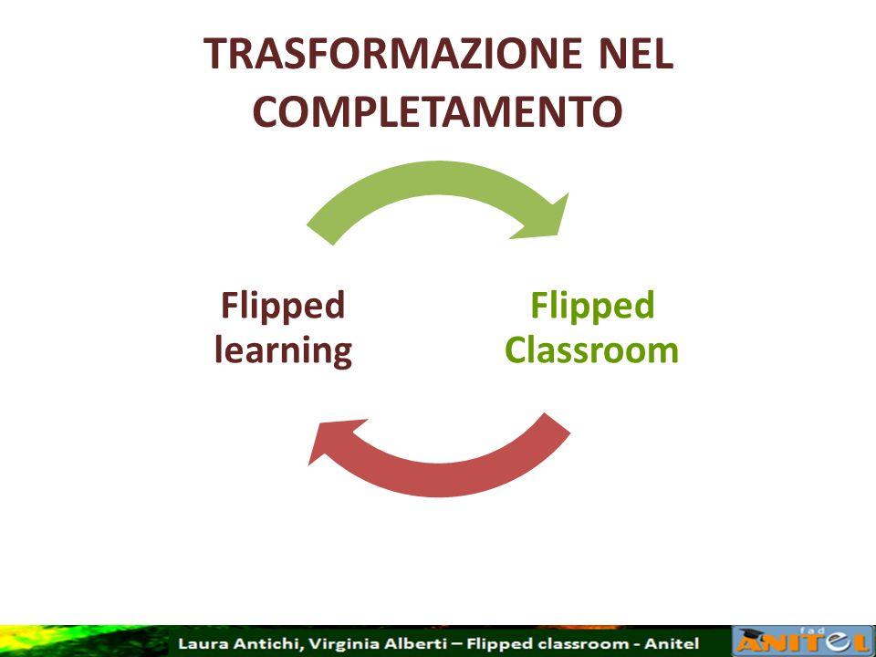 TRASFORMAZIONE NEL COMPLETAMENTO Flipped Classroom Flipped learning
