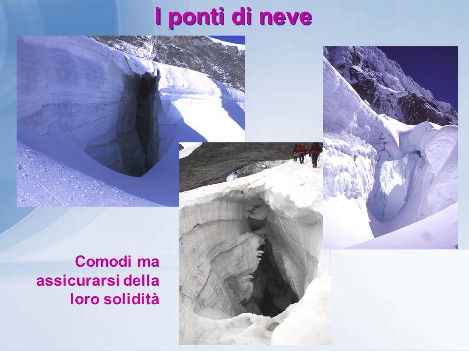I ponti di neve Comodi ma assicurarsi della loro solidità