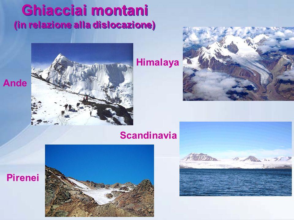 Lavoro dei ghiacciai Le valli di escavazione glaciale sono contraddistinte da profili di sezione trasversale ad U, mentre quelle fluviali sono a V.