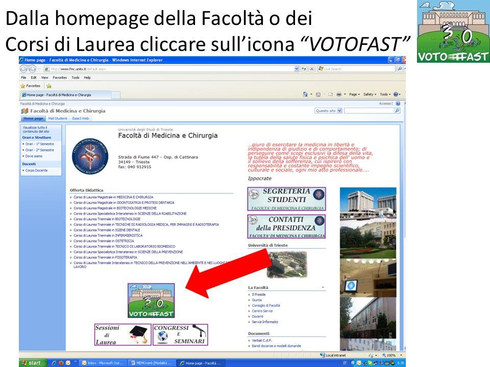 Si arriva alla Home Page di Voto Fast Nella sezione DOCENTI cliccare su Appelli on line