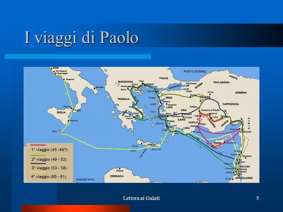 I viaggi di Paolo Lettera ai Galati5