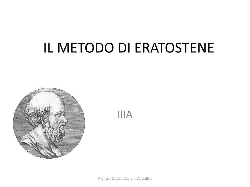 IL METODO DI ERATOSTENE IIIA Prof.ssa Ducati Carloni Valentina