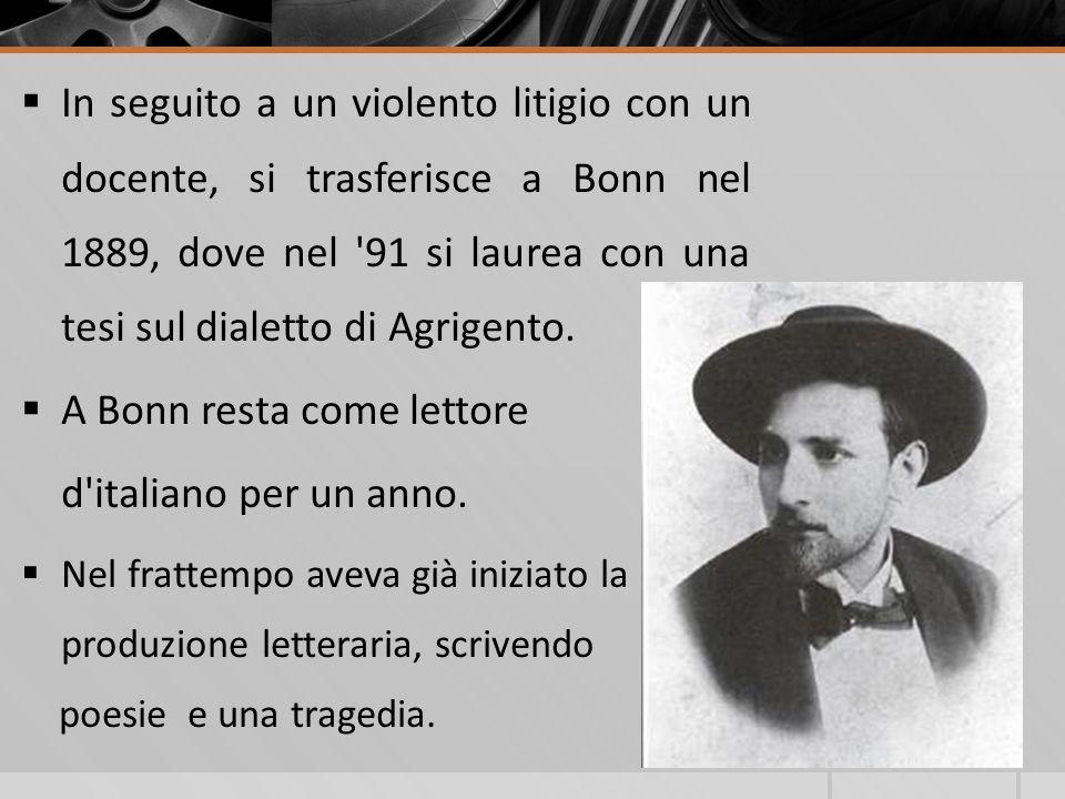 Dal libro Le Finzioni dellanima di Marchesini, ricavò inoltre lidea che non esistono valori morali certi: lidea del bene, il dovere, ecc…sono semplici credenze, che Pirandello chiamerà poi forme.