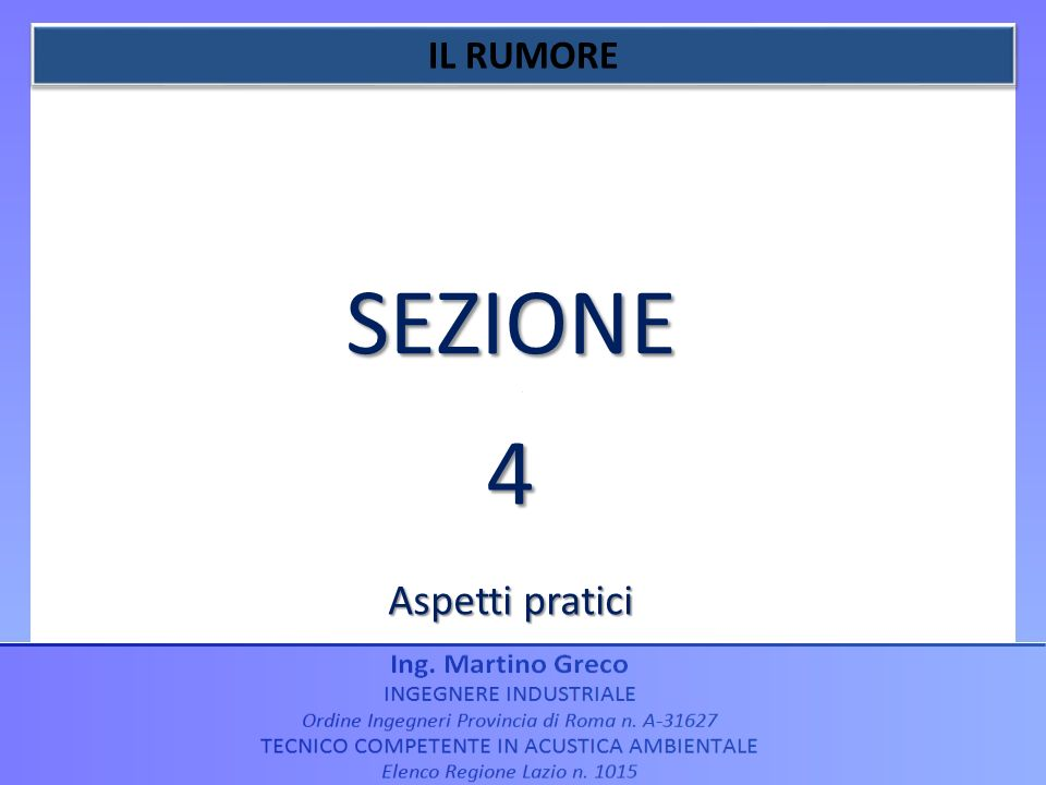 SEZIONE4 Aspetti pratici