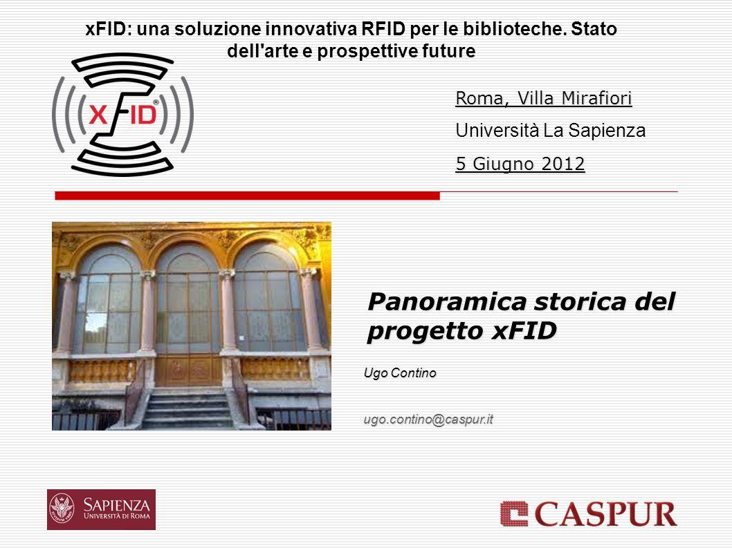 Panoramica storica del progetto xFID xFID: una soluzione innovativa RFID per le biblioteche. Stato dell'arte e prospettive future Ugo Contino ugo.cont