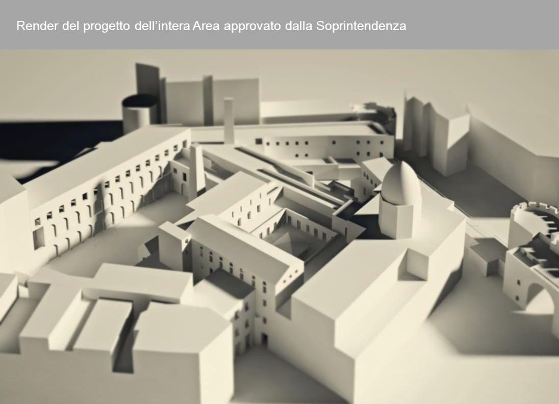 9 Render del progetto dellintera Area approvato dalla Soprintendenza