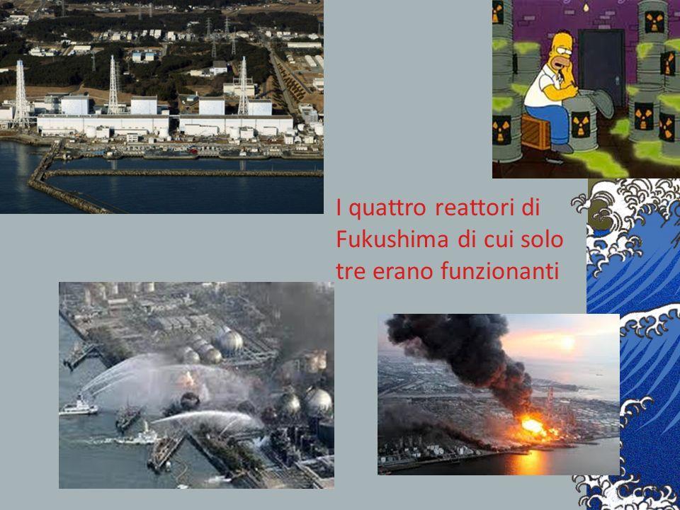 I quattro reattori di Fukushima di cui solo tre erano funzionanti