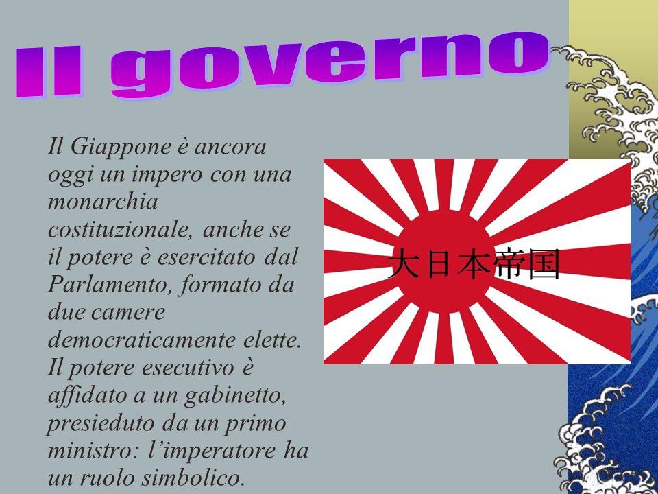 Il Giappone è ancora oggi un impero con una monarchia costituzionale, anche se il potere è esercitato dal Parlamento, formato da due camere democratic