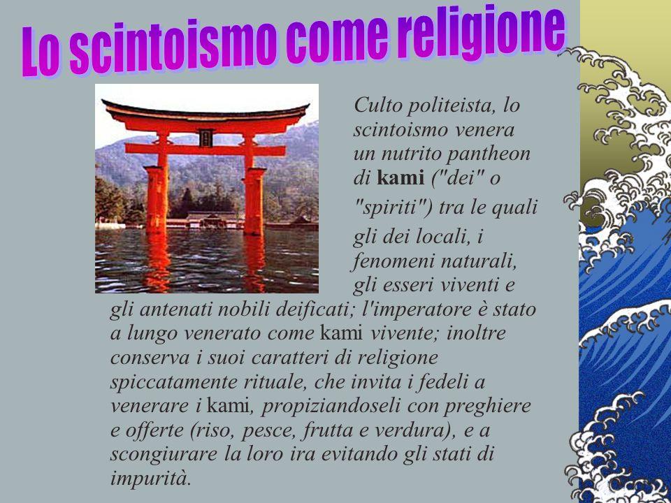 Culto politeista, lo scintoismo venera un nutrito pantheon di kami (