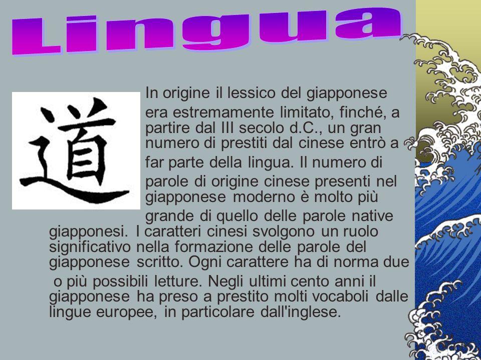 In origine il lessico del giapponese era estremamente limitato, finché, a partire dal III secolo d.C., un gran numero di prestiti dal cinese entrò a f